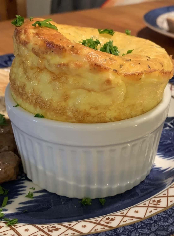 Cheesy Egg Souffle...breakfast at the 1795 Acorn Inn in Canandaigua