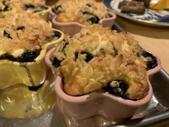 Blueberries Bristol, hot out of the oven!
