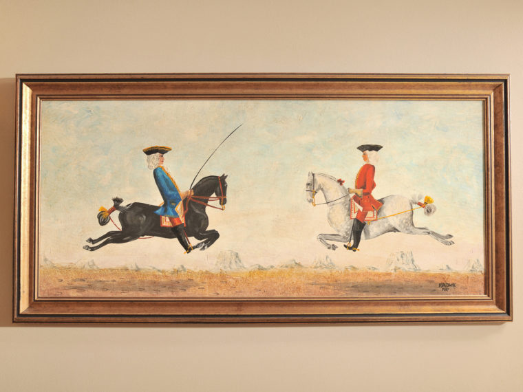 Angell Room with framed picture of 2 men on horses