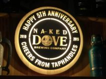 Naked Dove Brewing Company sign
