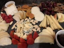 FLX Table Farmers Board consist of a large platter of local fruits and cheeses from the Finger Lakes. So very tasty and only a small part of a wonderful culinary experience.