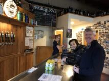Your Innkeeper from the 1795 Acorn Inn sampling beer at Naked Dove Brewing located on the Canandaigua Brew Trail