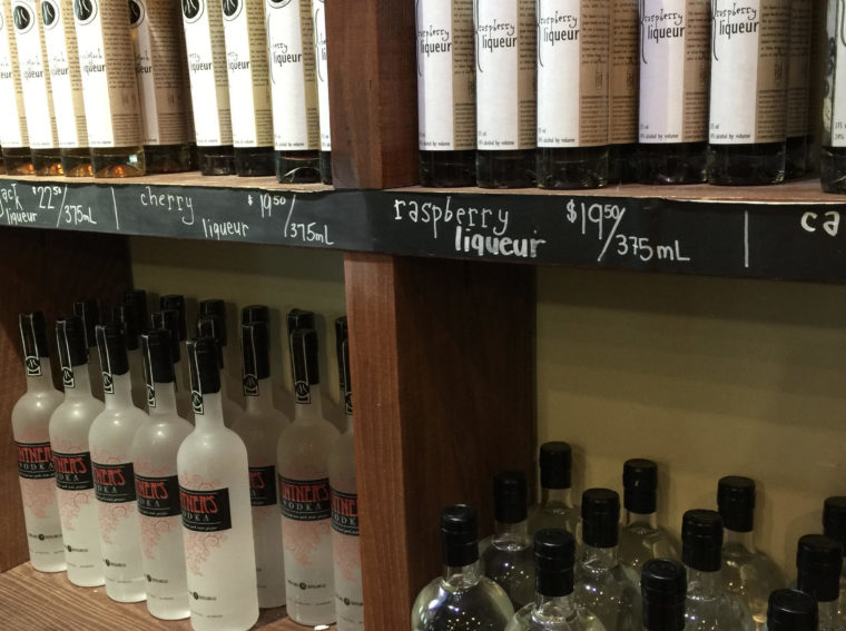Liqueor on shelves
