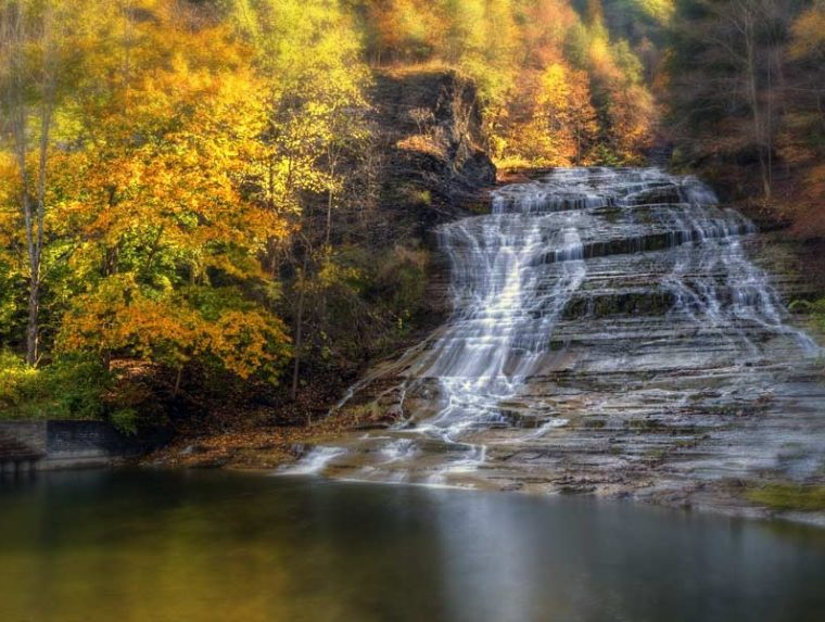 Fall photo of Buttermilk Falls