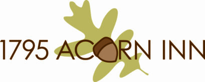 1795 Acorn Inn Bed and Breakfast logo with green leaf and brown acorn