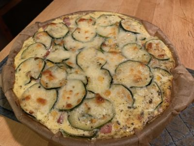 Corn and zucchini pie